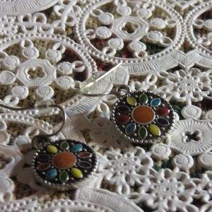Costume Jewelry pierced earrings multi colored